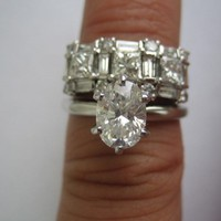 Have You Seen the Ring?: 3.12cts F SI1 GIA Diamond Engagement Ring 14kt White