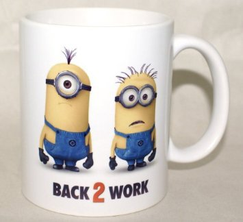 "Despicable Me 2 ""Back To Work"" Coffee Mug Funny Promotional Souvenir From DVD Blu-Ray Movie"