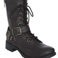 Harness Side Zip Combat Boot | Shop Biker Babe at Wet Seal
