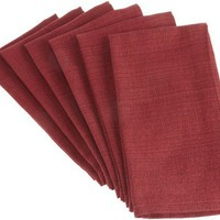 DII Heritage Home Redwood Variegated Napkin, Set of 6