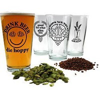 Hopspeak Pint Beer Glass Collection - Set of 4
