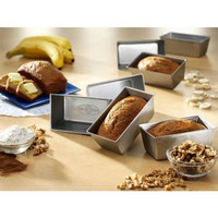 USA Pans 5-1/2 by 3-Inch Mini Loaf Pan, Set of 4