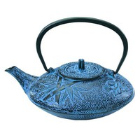Old Dutch 38-Ounce Cast-Iron Nobility Teapot, Pale Blue