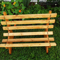 Wooden Bench With Pecan Finish