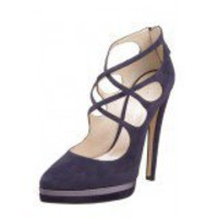 Casadei triple platform pumps