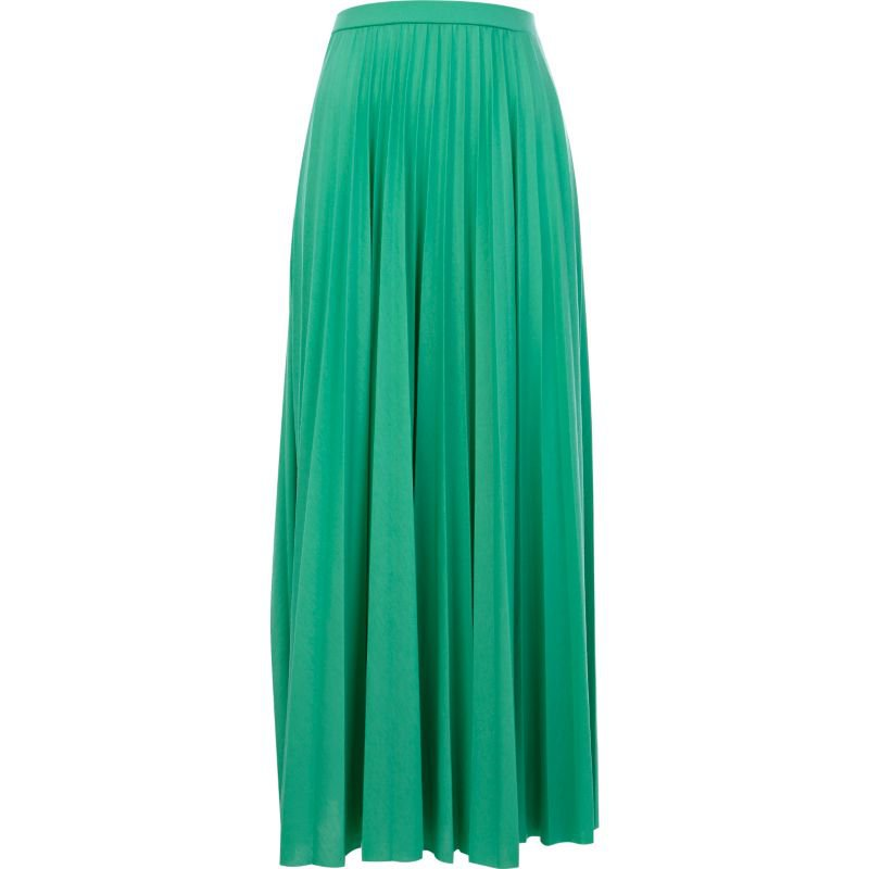 green pleated maxi skirt skirts sale from river island