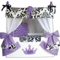 Purple Bella Canopy Dog Bed