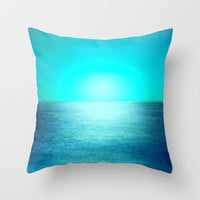 Moonlight over the sea. Vintage fantasy Throw Pillow by Guido Montañés