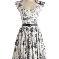 Bernie Dexter Eiffel Power Dress in Toile | Mod Retro Vintage Dresses | ModCloth.com