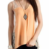 chiffon lacy tank $23.60 in ORANGE SEAFOAM - Lace | GoJane.com