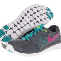 Nike Flex 2013 Run Wolf Grey/Blue Hero/Club Pink/Green Glow - Zappos.com Free Shipping BOTH Ways