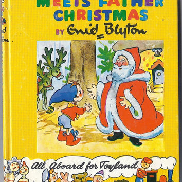 Noddy Meets Father Christmas (11) by Enid Blyton includes golliwogs Mr Golly, Hardcover