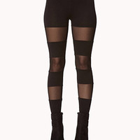 Mesh Panel Leggings | FOREVER 21 - 2063035221