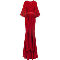 ANDREW GN Beaded Sleeve Gown - Polyvore