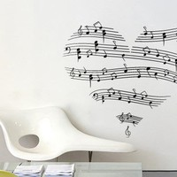 Music - Music Love Wall decal - Wall Decals , Home WallArt Decals