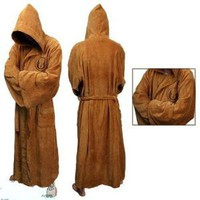 Star Wars Jedi Bath Robe Costume Bathrobe-M-Robe length:56 inches,Robe chest:54 inches