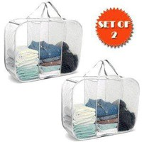POP-UP LAUNDRY SORTER HAMPER 3 COMPARTMENT WHITE (SET OF 2)