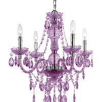 Elements Chandelier, 4-Light Mini in Purple - Modern Lighting - for the home - Macy's