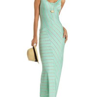 Asymmetrical Stripe Maxi Dress: Charlotte Russe