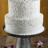 Galvanized Metal Cake and Dessert Stand