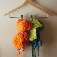 Neon Cotton Bandeau Tops Made To Order by motavationsnn on Etsy