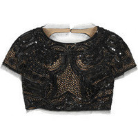 Emilio Pucci|Sequined tulle cropped top|NET-A-PORTER.COM