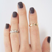 Crown Knuckle Rings - Rings - Shop