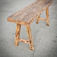 Primitive Cobbler's Bench by brandmojointeriors on Etsy