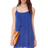 Tier Drop Dress in Royal Blue :: tobi