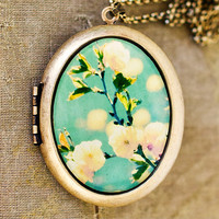 Photo Locket  Song For Spring  Romantic Yellow by HeartworksByLori