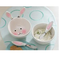 Bunny Dip Bowl & Spreaders Set at Wrapables -  Specialty Serving Pieces