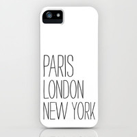 Paris, London, New York iPhone & iPod Case by Sara Eshak