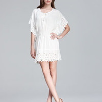 Rebecca Taylor Eyelet-Trim Dress - Neiman Marcus