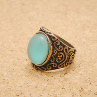 Vintage Style Gemstone Ring-g NM001