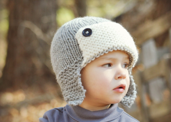 Knitting Hat For Toddler : Baby boys toddler hat kids knit from
