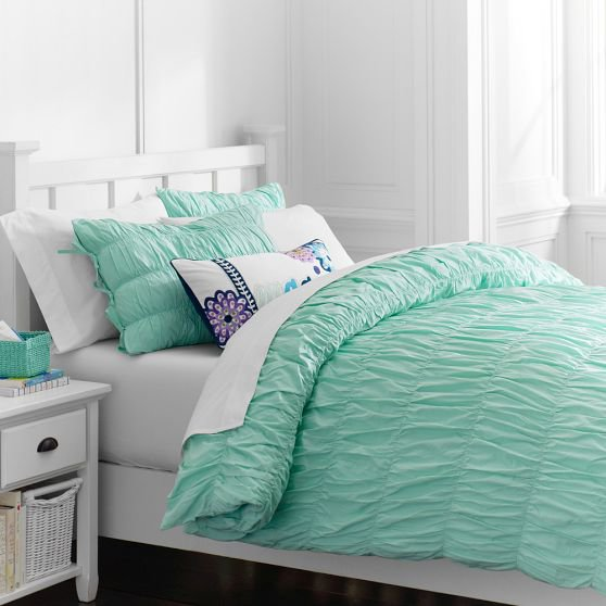 Ruched duvet cover sham l from on wanelo - A nice bed and cover for teenage girls or room ...