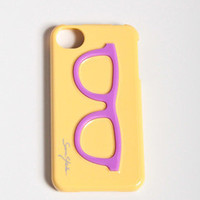 Glasses iPhone 4/4s Case in Yellow