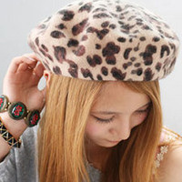 Leopard Beret