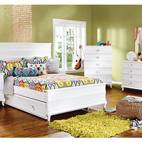 Milan White   5 Pc Full Bedroom