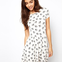 ASOS | ASOS Skater Dress With Pug Print at ASOS
