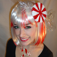 Peppermint Wig with removable Peppermint hair by BubbasBoutique
