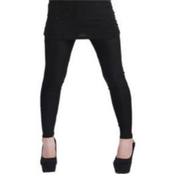 Amour-Solid Cotton Leggings Spandex Stretch Pants- Many Colors