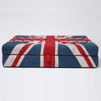 Shoreditch Union Jack Ottoman|Big Stools|Seating|French Bedroom Company