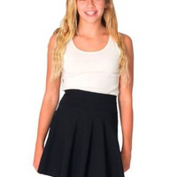 American Apparel Youth Cotton Spandex Jersey Wide Waistband Skirt