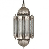 NEW! Souk Souk Silver Pendant Lantern  |  Chandeliers  |  Lighting  |  French Bedroom Company