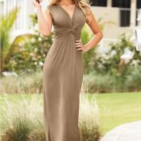 Knot front maxi dress in the VENUS Line of Dresses for Women