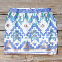 Hazy Sky Native Skirt, Women's Sweet Bohemian Clothing
