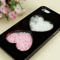 Hearts Design Dancing Diamond Case for iPhone 5