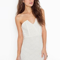 Right Angles Dress - Ivory Lace in Clothes Dresses Party at Nasty Gal