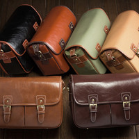 Best Handmade Leather Digital SLR Camera Messenger Bag